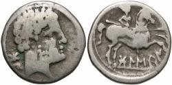Ancient Coins - Spain, Bolskan (Osca), 150 - 100 BC, Silver Denarius