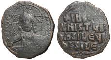 Ancient Coins - Basil II & Constantine VIII, 970 - 1092 AD, Anonymous Class A3 Follis, 27mm