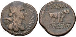Ancient Coins - Julius Caesar & Octavian, 44 - 36 BC, AE Dupondius of Celsa