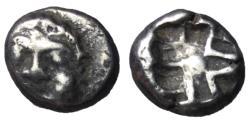 Ancient Coins - Mysia, Parion, 5th - 4th Century BC, Archaic Style Silver Drachm