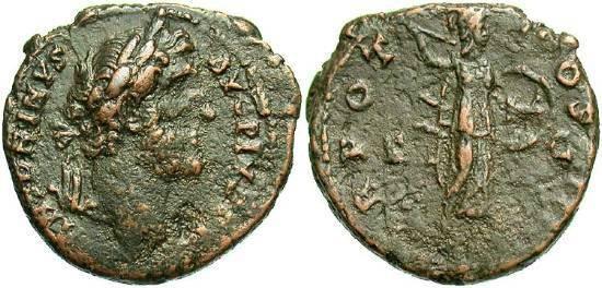 Ancient Coins - Antoninus Pius, 138 - 161 AD, AE As, Minerva