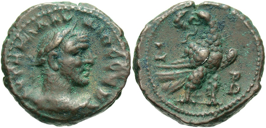 Ancient Coins - Claudius II, 268 - 270 AD, Tetradrachm of Alexandria, Eagle