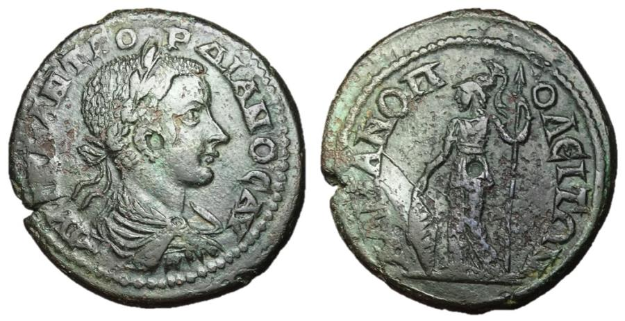 Ancient Coins - Gordian III, 238 - 244 AD, AE28, Hadrianopolis, Minerva