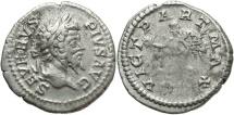 Ancient Coins - Septimius Severus, 193 - 211 AD, Silver Denarius, Parthian War Issue