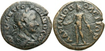 Ancient Coins - Gordian III, 238 - 244 AD, AE28, Hadrianopolis, Apollo