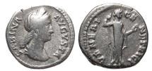 Ancient Coins - Sabina, 128 - 137 AD, Silver Denarius, Venus, Rare