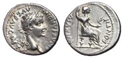 Ancient Coins - Tiberius, 14 - 37 AD, Silver Denarius, 'Tribute Penny'