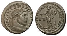 Ancient Coins - Galerius, as Caesar, 293 - 305 AD, Follis of Ticinum