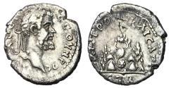 Ancient Coins - Septimius Severus, 193 - 211 AD, Drachm of Caesarea, Mt. Argaeus
