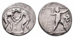 Ancient Coins - Pamphylia, Apsendos, 380 - 325 BC, Silver Stater