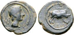 Ancient Coins - Spain, Castulo, 2nd Century BC Quadrans