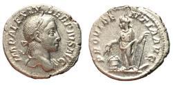 Ancient Coins - Severus Alexander, 222 - 235 AD, Silver Denarius, Providentia