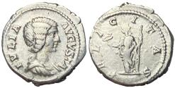 Ancient Coins - Julia Domna Silver Denarius with Felicitas