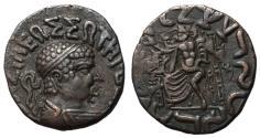 Ancient Coins - Baktria, Hermaios, 90 - 71 BC, AE Tetradrachm