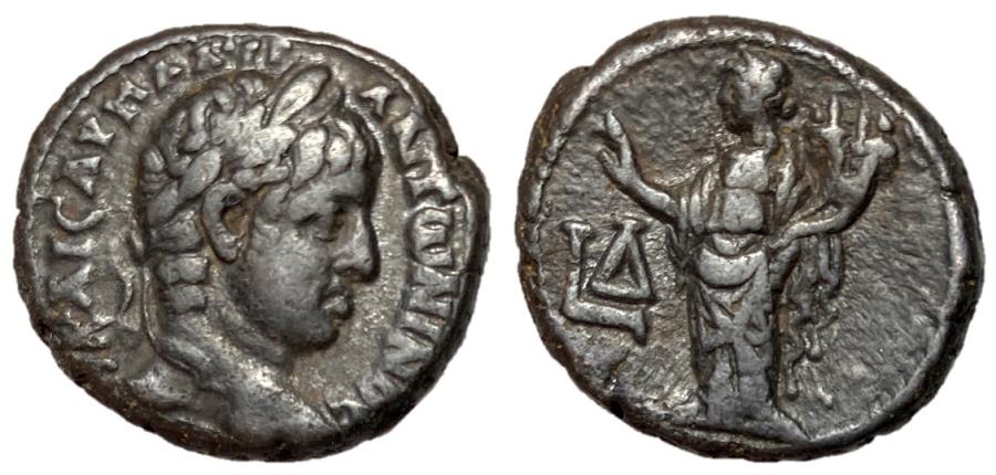 Ancient Coins - Elagabalus, 218 - 222 AD, Billon Tetradrachm of Alexandria, Hommonia