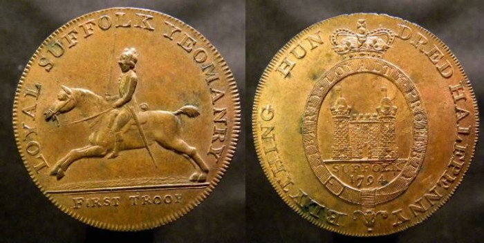 World Coins - Suffolk, Blything, Conder Token, 1794