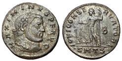 Ancient Coins - Maximinus II, 309 - 313 AD, Follis of Thessalonica,  Jupiter