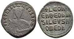 Ancient Coins - Leo IV, The Wise, 886 - 912 AD, 27mm Follis