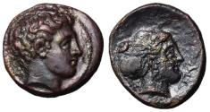 Ancient Coins - Thessaly, Phalanna, mid 4th Century BC, AE Trichalkon, ex BCD Collection