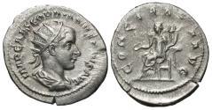 Ancient Coins - Gordian III, 238 - 244 AD, Silver Antoninianus, Concordia Seated
