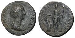 Ancient Coins - Diva Faustina Sr., 138 - 140 AD, Sestertius, Vesta
