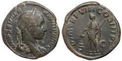 Ancient Coins - Severus Alexander, 222 - 235 AD, Sestertius with Libertas