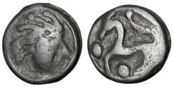 Ancient Coins - Celtic Gaul, The Senones, 100 - 50 BC, Potin Unit