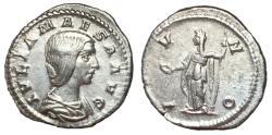 Ancient Coins - Julia Maesa, 218 - 220 AD, Silver Denarius, Juno