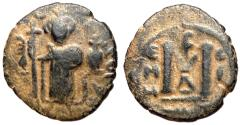 Ancient Coins - Arab-Byzantine, Abd al-Malik ibn Marwan, 685 - 705 AD, AE Fals
