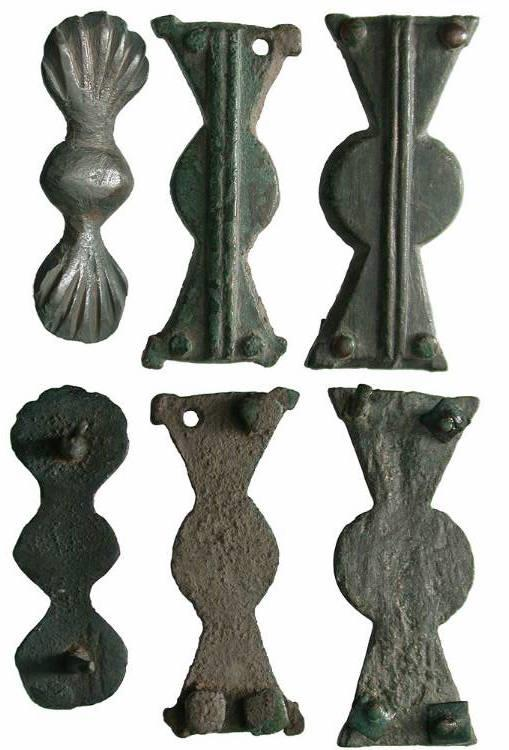 Ancient Coins - Roman Empire, Eastern Provinces, 4th - 4th Centuries AD, Sword Belt Fittings