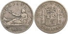 Ancient Coins - Spain, 1870 Silver 2 Pesos, KM654