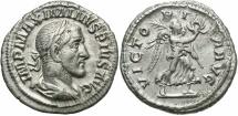 Ancient Coins - Maximinus I, 235 - 238 AD, Silver Denarius, Victory
