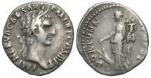 Ancient Coins - Nerva, 96 - 98 AD, Silver Denarius, Fortuna