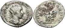 Ancient Coins - Gordian III, 238 - 244 AD, Silver Antoninianus of Antioch, Gordian Standing
