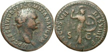 Ancient Coins - Domitian, 81 - 96 AD, AE As, Minerva