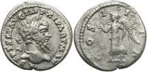 Ancient Coins - Septimius Severus, 193 - 211 AD, Denarius of Laodicea, Victory