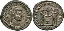 Ancient Coins - Diocletian, 284 - 305 AD, Antoninianus of Heraklea, Superb EF