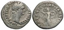 Ancient Coins - Domitian, 81 - 96 AD, Silver Denarius, Minerva