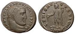 Ancient Coins - Maximinus II, 310 - 313 AD, Follis of Nicomedia, Genius
