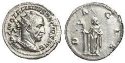 Ancient Coins - Trajan Decius, 249 - 251 AD, Silver Antonininianus, Dacia