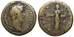 Ancient Coins - Antoninus Pius, 138 - 161 AD, Sestertius, Apollo