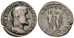 Ancient Coins - Maximinus I, 235 - 238 AD, Sestertius, Germany War Victory