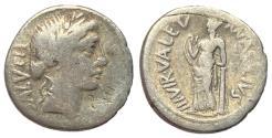 Ancient Coins - Imperatorial Period, Ma. Acilius Glabrio, 49 BC, Silver Denarius