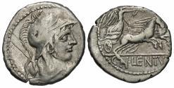 Ancient Coins - Cn Lentulus Clodianus, 88 BC, Silver Denarius