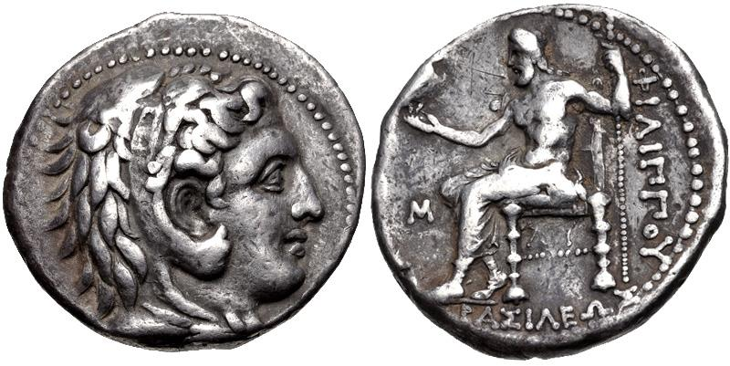 Ancient Coins - Kingdom of Macedonia, Philip III Arrhidaios, 323 - 317 BC, Silver Tetradrachm, Babylon Mint