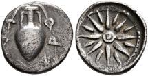 Ancient Coins - Lokris, Opuntii, 375 - 350 BC, Silver Obol