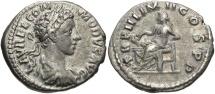Commodus, 177 - 192 AD, Silver Denarius, Salus, Engraver Error