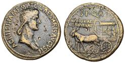 Ancient Coins - Agrippina Sr., Death Sestertius Issued by Caligula