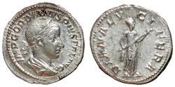 Ancient Coins - Gordian III, 238 - 244 AD, Silver Denarius, Diana