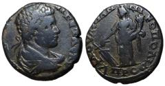 Ancient Coins - Caracalla, 198 - 217 AD, AE26 of Nicopolis, Tyche, Unpublished